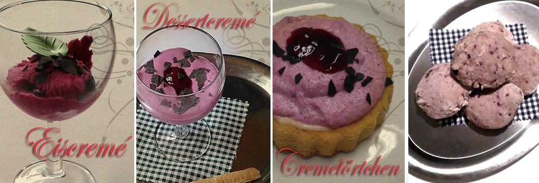 Brusinky, Dessert, Eiscremé, Rote Bete, Wildpreiselbeeren, Elsteraue